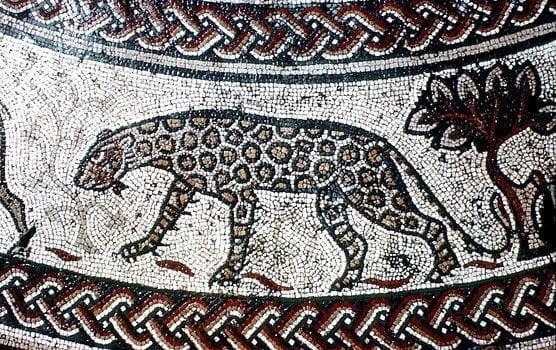 Rzymska mozaika ukazująca lamparta