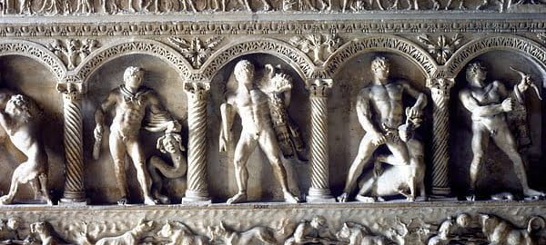Reliefs on the Antonin family tomb
