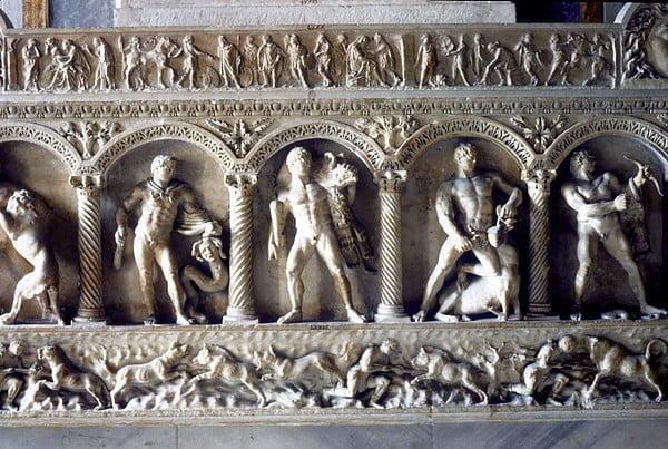 Reliefs on Roman tomb