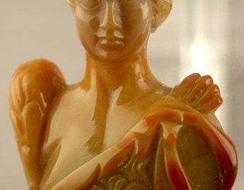 Rzeźba z karneolu lub agatu pokazująca nieznanego cesarza