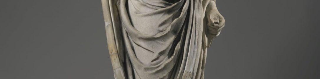 Roman marble figure of Togatus