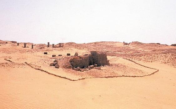 Północna brama obozu rzymskiego w Bu Njem w Libii