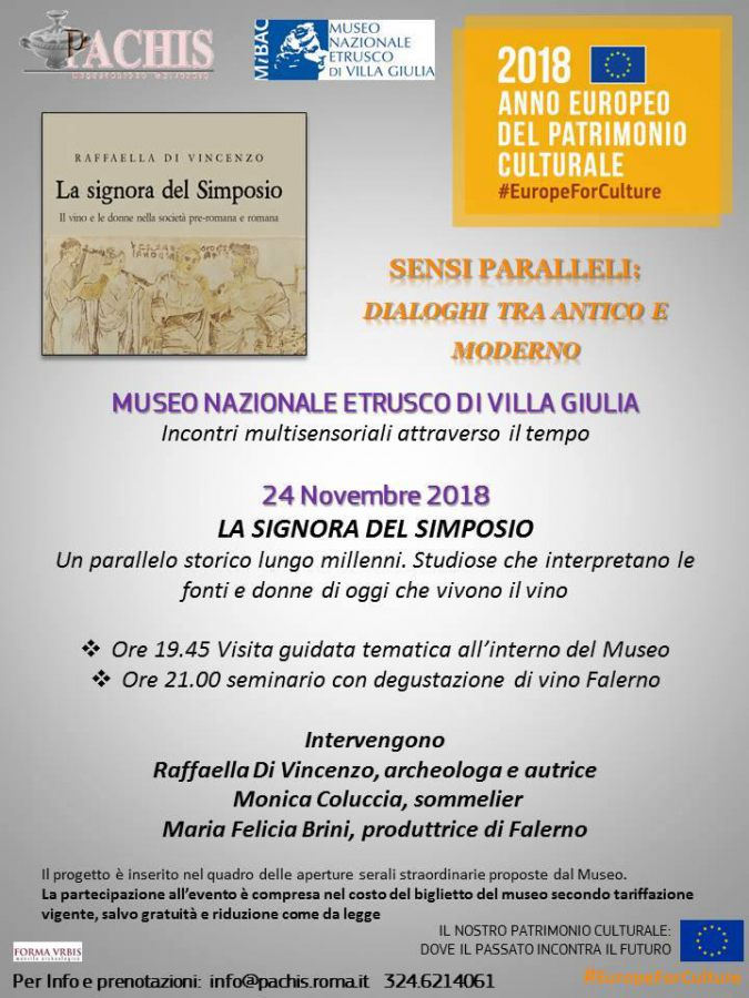 On November 24 at National Etruscan Museum take place seminar on wine