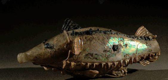 Roman glass fish