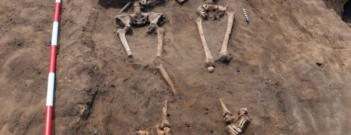 Skeletons from Roman times were found in Lincolnshire