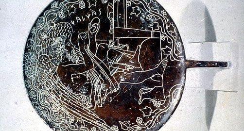 Bronze Etruscan mirror