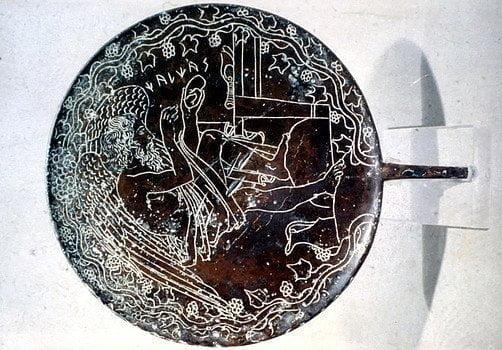Etruskie lusterko z brązu