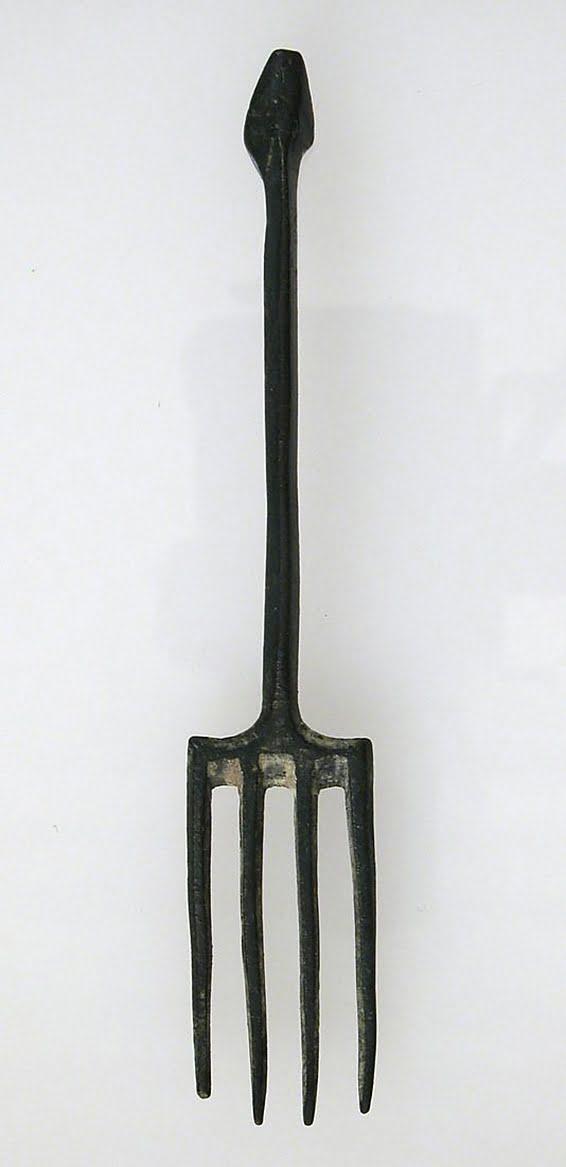 Roman copper fork