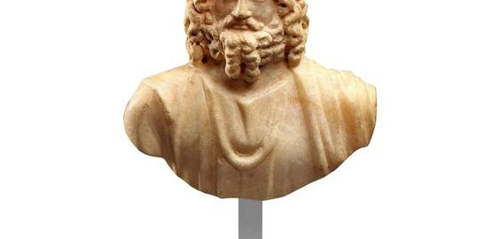 A bust of Jupiter Serapis