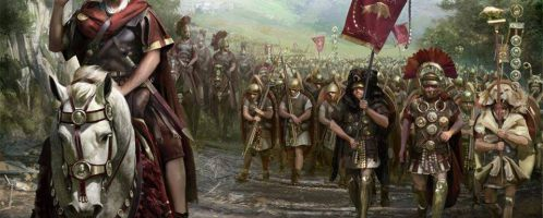 Caesar on the march
