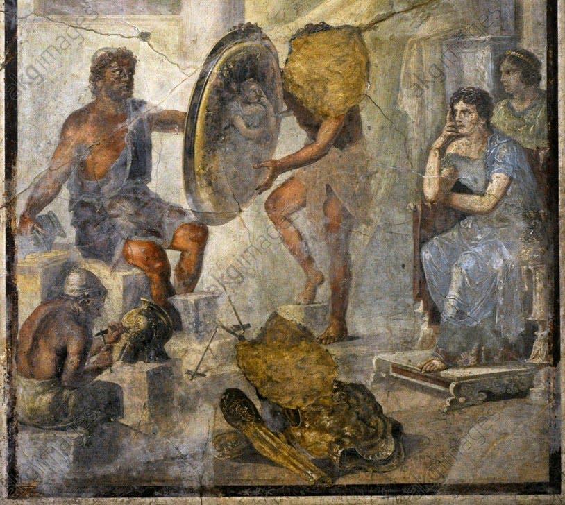 Tetyda na pompejańskim fresku