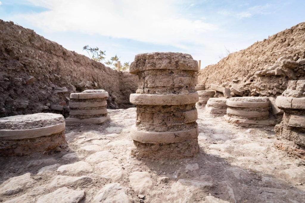 Pozostałości rzymskiego systemu ogrzewania podpodłogowego