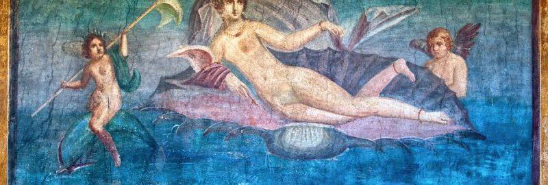 Fresk ukazujący Wenus w muszli