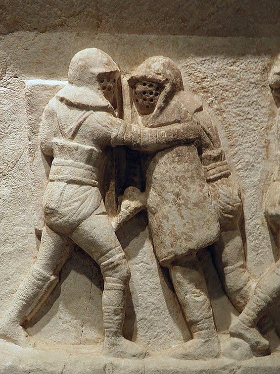 Fryz ukazujący walkę gladiatorów