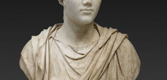 A bust of an elegant Roman woman