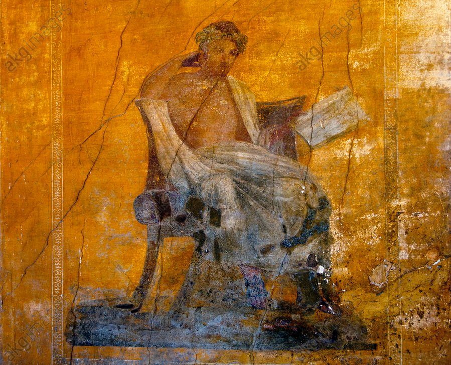 Fresk rzymski ukazujący Menandra