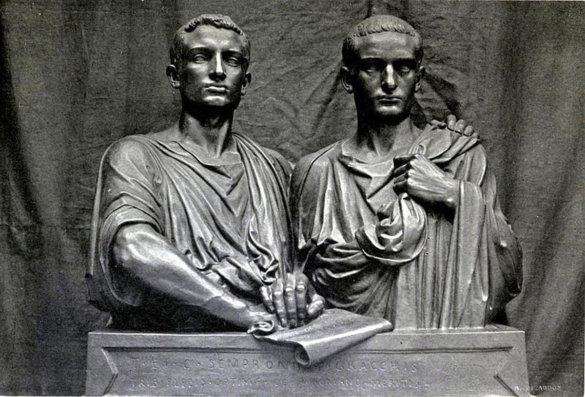 Słynne rodzeństwo: Tyberiusz (po prawej) oraz Gajusz Grakchus