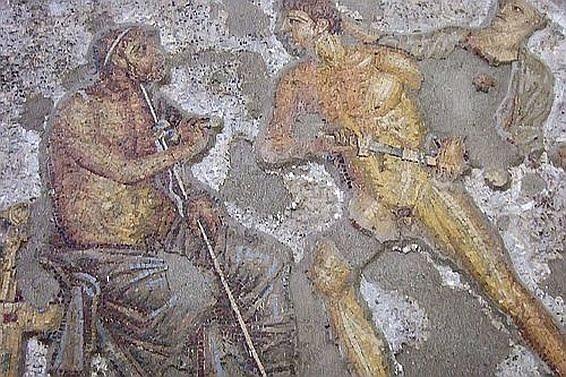 Mozaika ukazująca Achillesa i Agamemnona