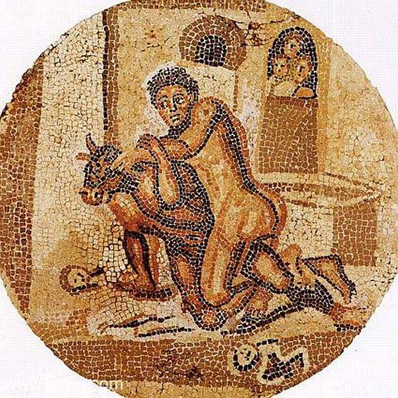 Tezeusz zabijający Minotaura