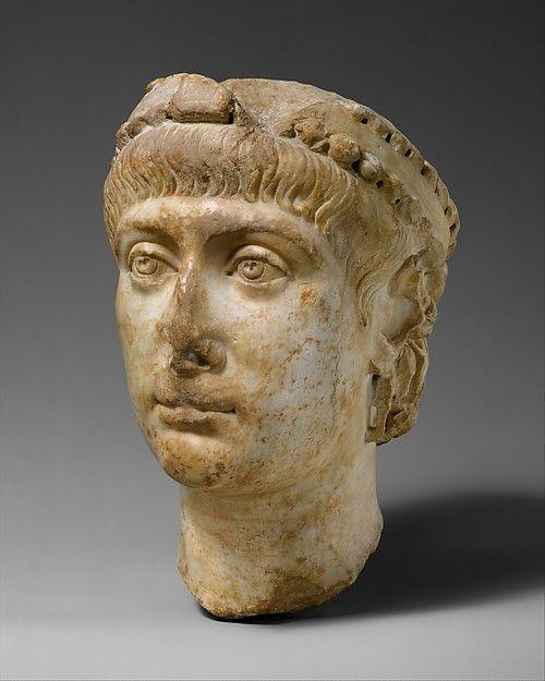 Marble head of Emperor Constans