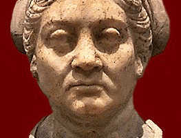 Bust of an older woman, probably showing Urgulania