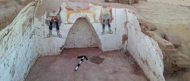 Tombs and wall paintings from Roman times were discovered in Egypt