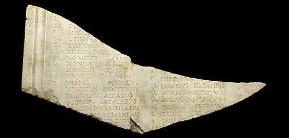 Fragment rzymskiej listy obywateli