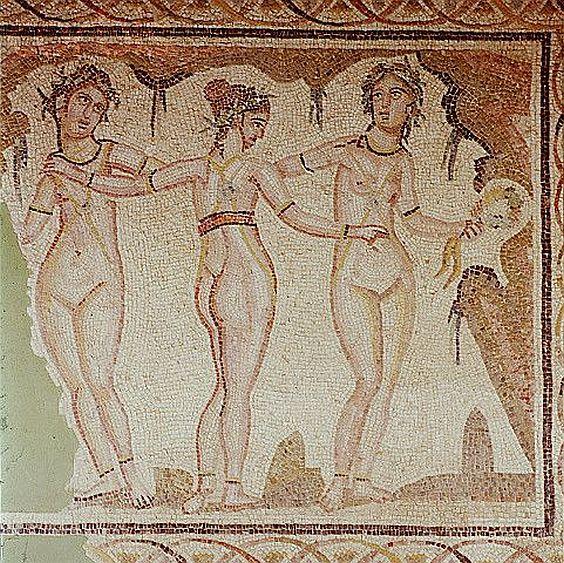 Three nude Graces
