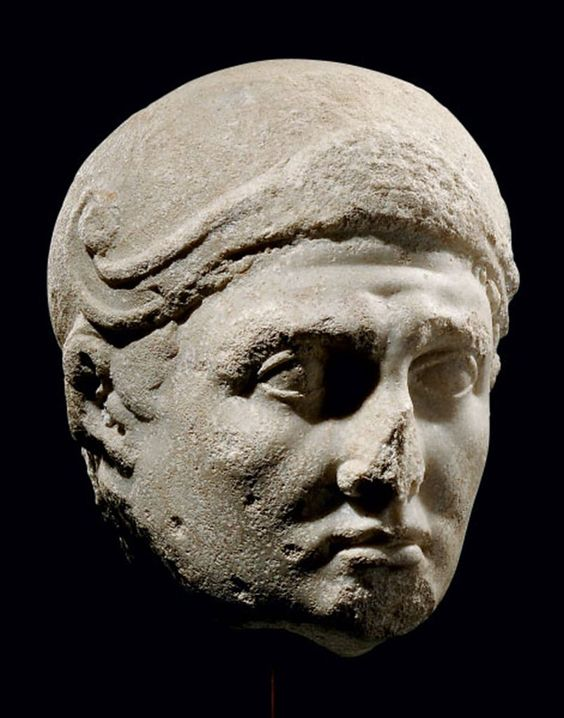 Head of Mark Antony with Attic-type helmet