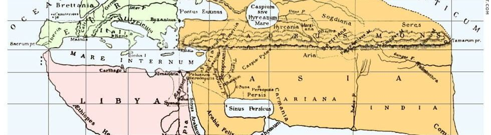 World map according to Strabo