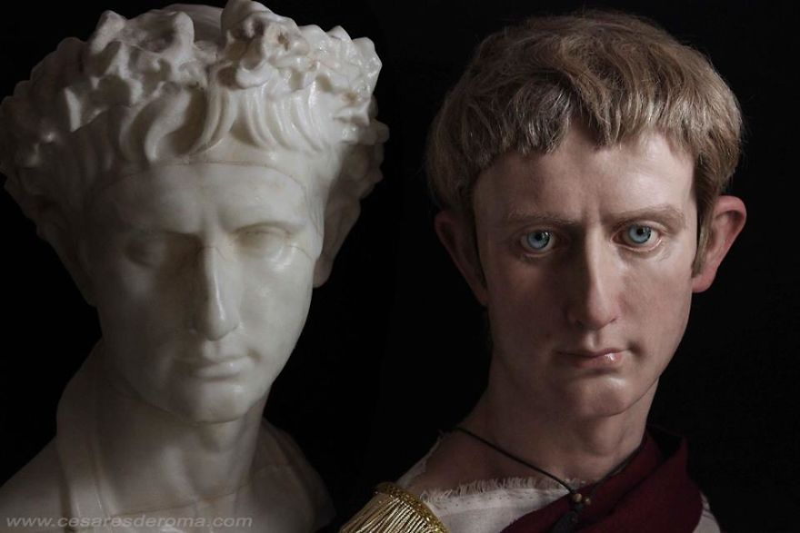 Reconstruction of the image of Octavian Augustus