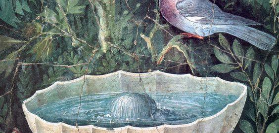 Niezwykle realistyczny ptak na fresku