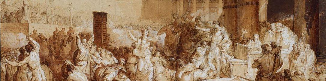 Jean-Pierre Saint-Ours, Flamininus nadający wolność Grecji w trakcie igrzysk na Istmie Korynckim