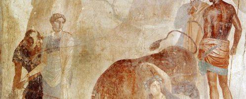 Rzymski fresk przedstawiający ukaranie Dirke