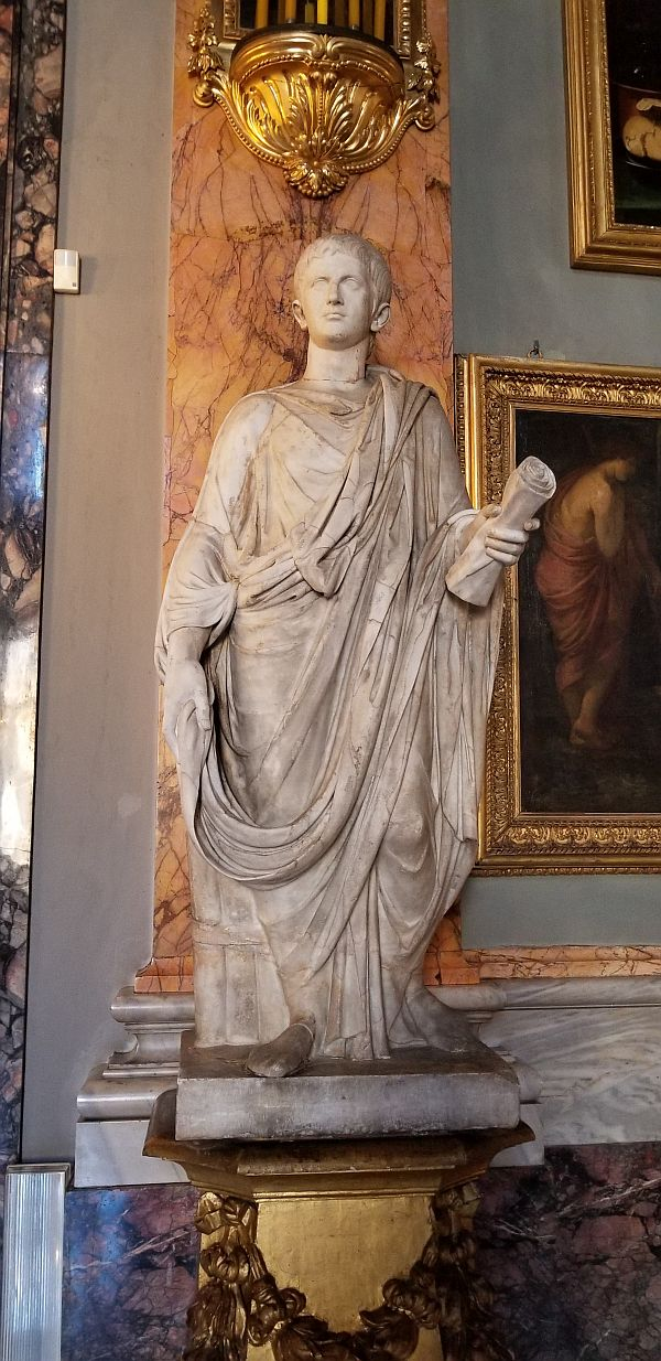 Statue of Augustus in Colonna Gallery in Rome
