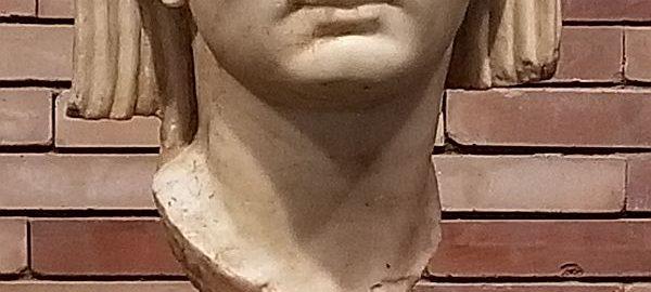 A bust of Octavian August in Merida
