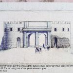 Rekonstrukcja ruin Balkerne Gate w Colchester