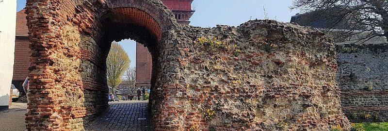 The ruins of Balkerne Gate in Colchester