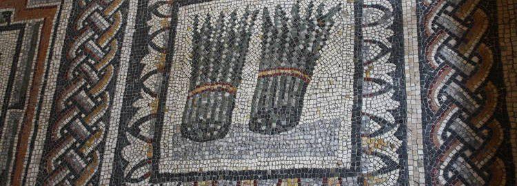 Asparagus on a mosaic