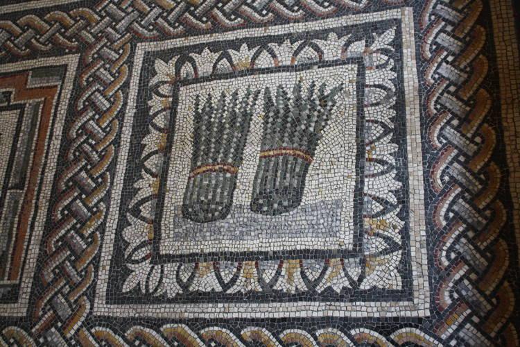 Szparagi na mozaice