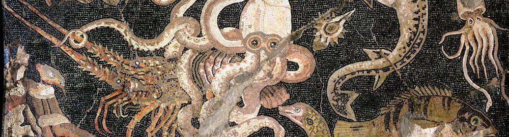 Rzymska mozaika ukazująca morskie życie