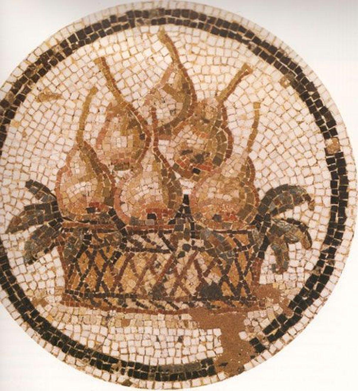 Mozaika ukazująca gruszki