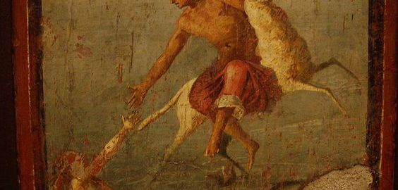 Phrixus and Helle in a Roman fresco