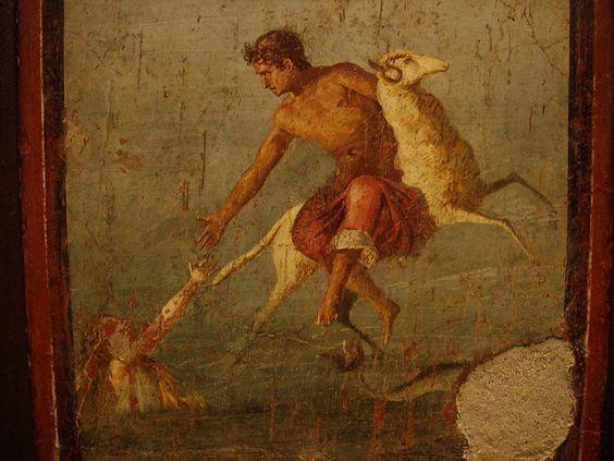 Fryksos i Helle na fresku rzymskim
