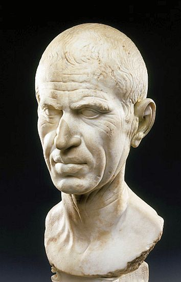 Realistic bust of Roman