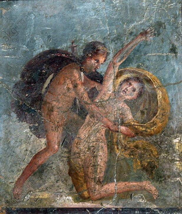 Apollo i Dafne na fresku rzymskim