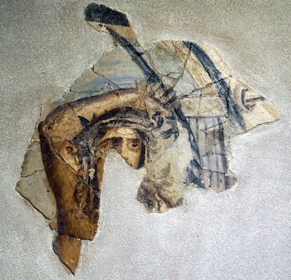 Fragment zachowanych rzymskich fresków