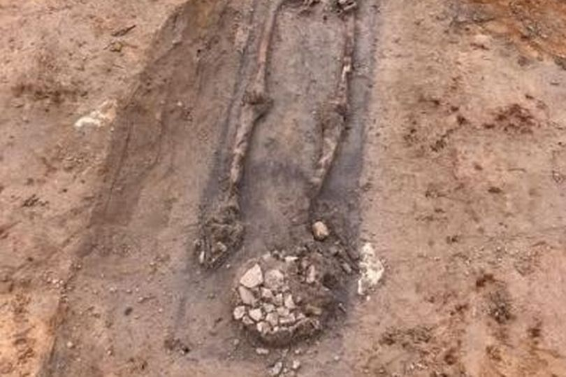 22 Roman skeletons were found in England