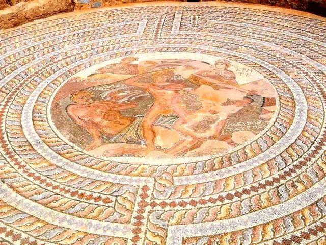 Mozaika znaleziona w willi Tezeusza