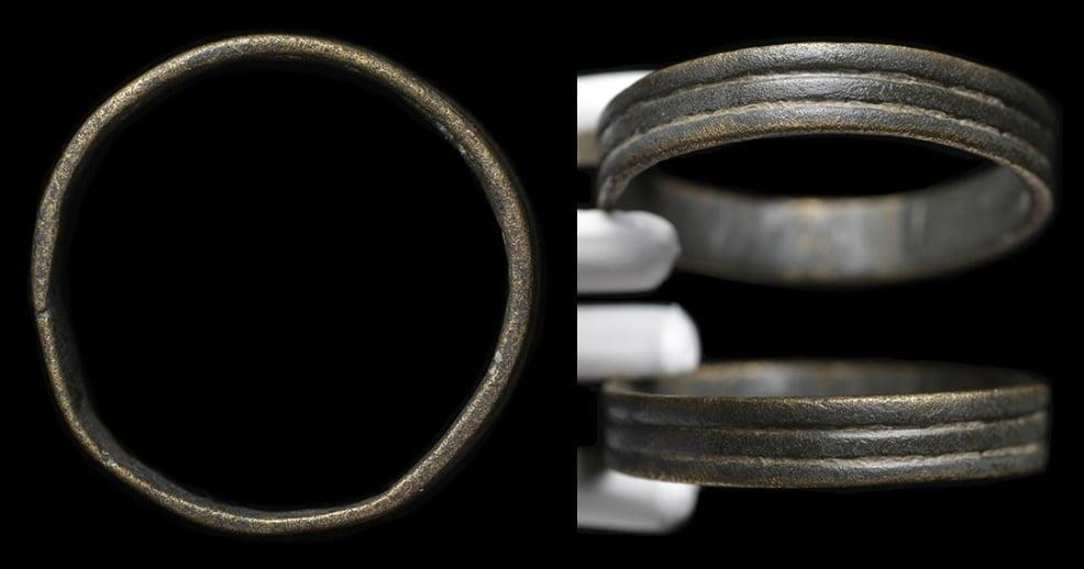 Rzymska obrączka. Datowana na II-V wiek n.e.
